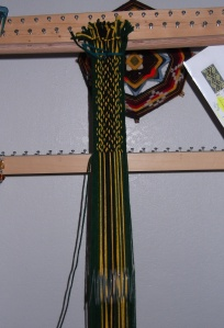 The backside of the dragon's breath weaving